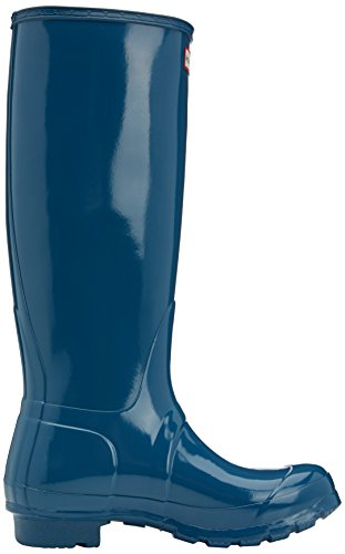 Hunter Original Gloss, Damen Stiefel Blau (dusty Petrol)
