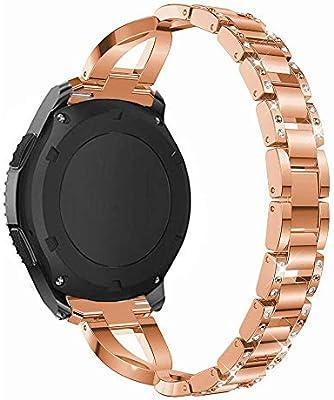 RuenTech Pulsera Compatible con Fossil Q Smartwatch Banda 22 mm ...