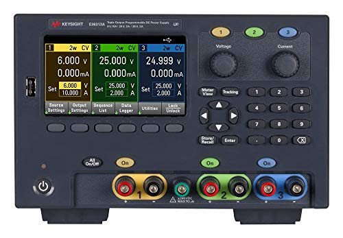 - E36313A/GPB - Bench Power Supply, DC, w/GPIB Module, Programmable, 3 Output, 0 V, 6 V, 0 A, 10 A (E36313A/GPB)