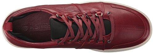 K-swiss Mens Classico Sport Sneaker Mode Tango Rouge / Blanc Cassé