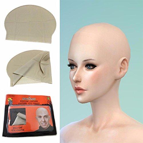 Reusable Skin Head Monk Nun Bald Cap/Wig Halloween Party Props Comedy Concert Film Movies Costume Dress Up Event Party Supplies ()
