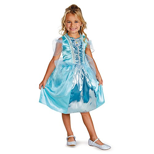 Disney Cinderella Sparkle Classic Girls Costume, (Frozen Team Halloween Games)