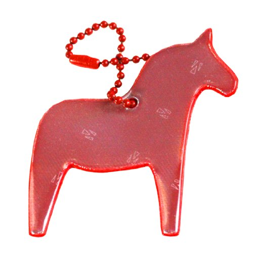 funflector Safety Reflector - Red Dala Horse - 1-pack
