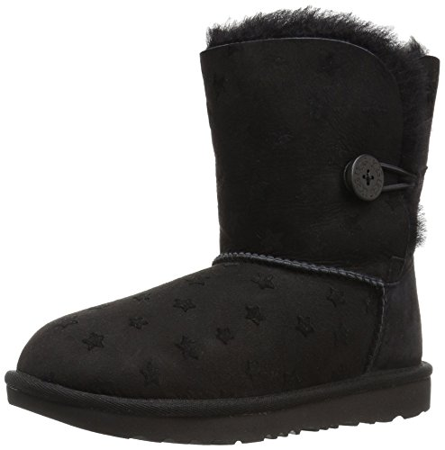 UGG Girls K Bailey Button II Stars Pull-on Boot, Black, 5 M US Big Kid by UGG