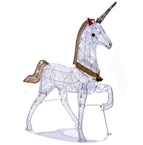 (Christmas Glitter Unicorn Lighted Yard Art Decoration Indoor / Outdoor 40)
