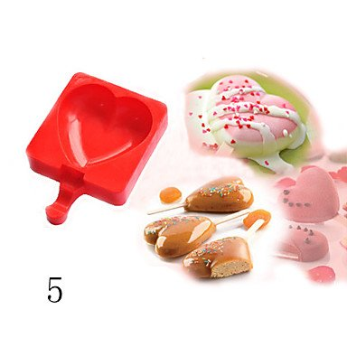 FMY DIY Silicone Ice Cream Mold Ice Pop Popsicle Molds Chocolate Cake Baking Mold , 1 by Rosie