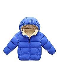 Tenworld B Kids Girl Boy Winter Hooded Coat Fleece Lined Jacket Thick Warm Outerwear