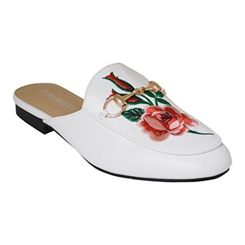 Ciara - Sandalias de vestir para mujer flor blanca