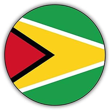 "Guyana Flag Oval car window bumper sticker decal 5/"" x 3/"""