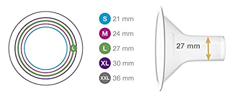 2 St/ück 27 mm Medela PersonalFit Brusthauben Gr/ö/ße L