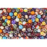 Mega Marbles 5/8 inch Player Marbles, Assorted Colors, Set of 24 (Pack of 2)