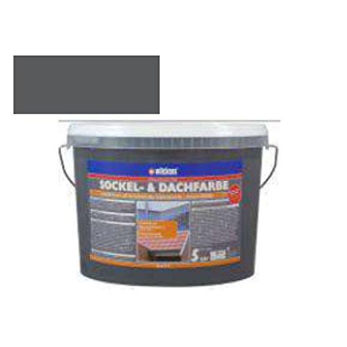 Sockel- & Dachfarbe (Sockelfarbe Schiefer 5 Liter)