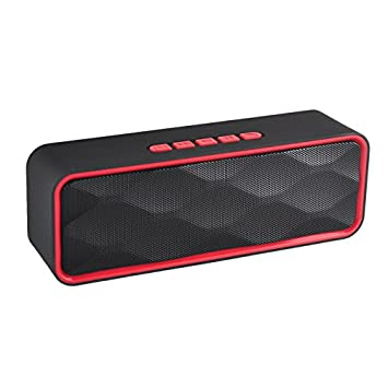 TechCode Wireless Portable Travel Speaker with Superior Sound Bluetooth Stereo Speaker USB TF Card FM Radio Subwoofer Player Built-in Microphone for Calls for iPhone, iPad, Samsung and others(Black) Samsung and others(Black) PA-CF-SC211-BK