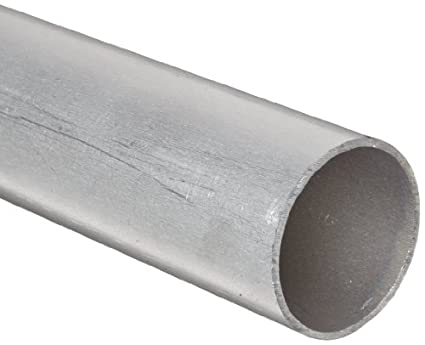 1 Inch OD x 0.250 Inch Wall Finish Mill RMP 6061-T6 Aluminum Round Tube Extruded 12 Inch Length Unpolished