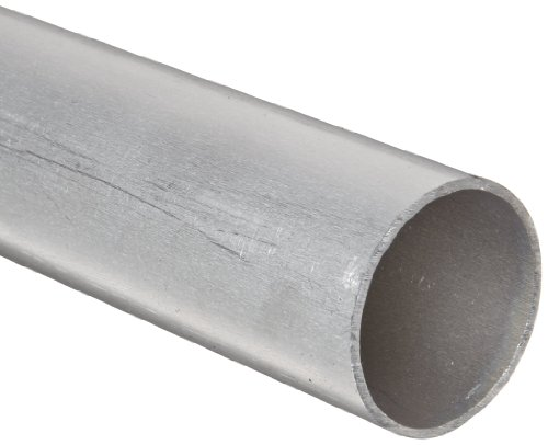 (RMP 6061-T6 Aluminum Round Tube, 2 Inch OD x 0.125 Inch Wall, 72 Inch Length, Extruded, Unpolished (Mill) Finish)