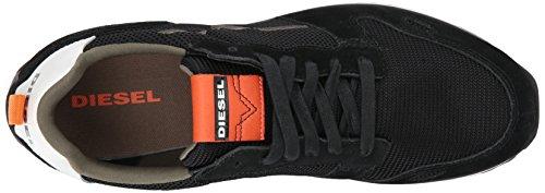 Diesel Mens Cortt Rv Sneaker Noir / Coucher De Soleil Orange
