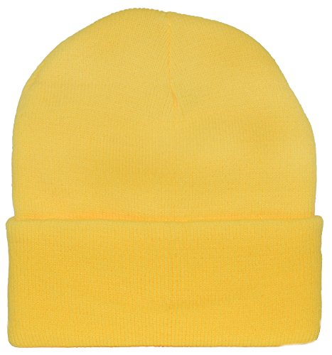 Yellow Knit Cap Beanie   Minion Yellow at Amazon Men s Clothing store  4934cd14cf6