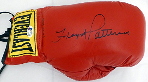 Autographs Patterson (Floyd Patterson Signed Autograph Red Everlast Boxing Glove - Beckett BAS Certified)