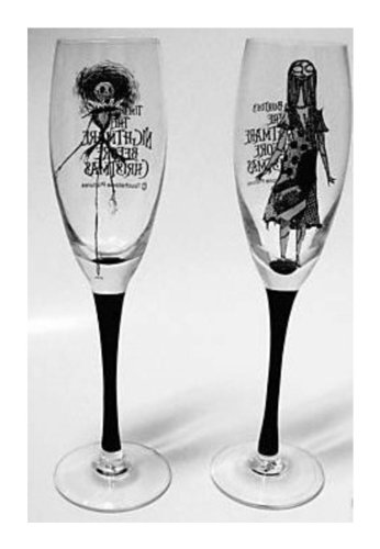 Nightmare Before Christmas 13th Anniversary Flute Champagne Glasses [Set of Two] [Limited Edition 5000]
