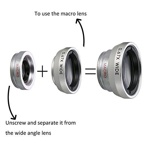 XCSOURCE Clip Universal 5 en 1 Kit Lot: Objectif Fish-Eye à 180°+ 0.67X Filtre Grand Angle + Lentille Macro + Lens CPL Polariseurs + Téléobjectif 2X+ Trousse de Protection + Tissu de l'entretien Smart
