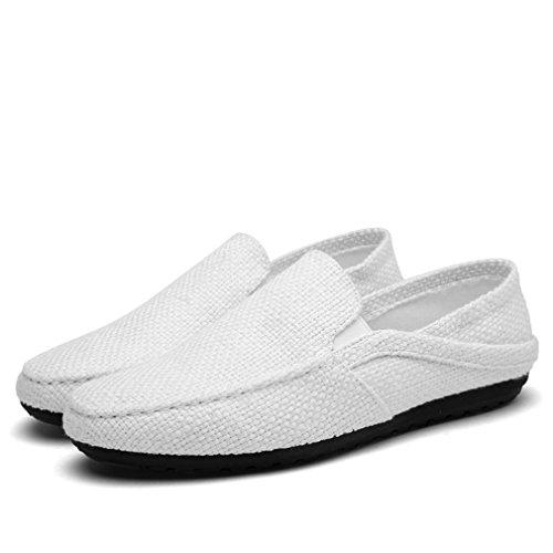 Men Ultralight Flats Mocasines Summer Shoes Beige Alpargatas Transpirable Hombre Lazy Hemp Casual White Boat Fznqnd