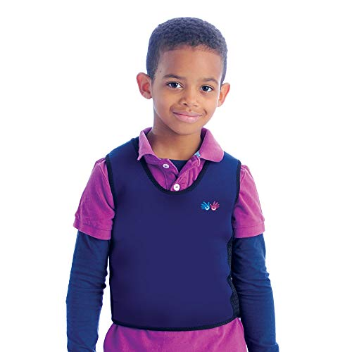 Fun and Function's Blue Weighted Compression Vest - X-Large (adult) - Helps With Mood & Attention, Sensory Over Responding, Sensory Seeking, Travel Issues