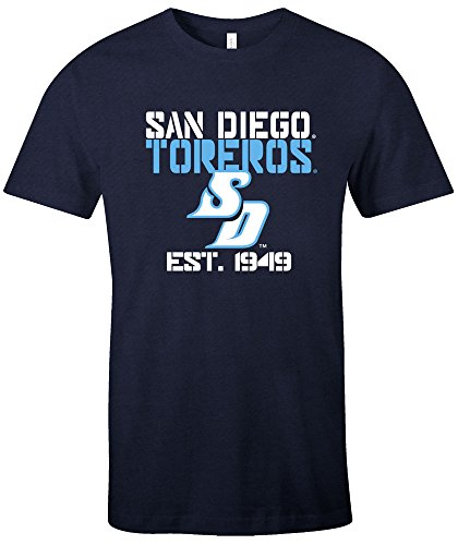 NCAA San Diego Toreros Est Stack Jersey Short Sleeve T-Shirt, Navy,X-Large