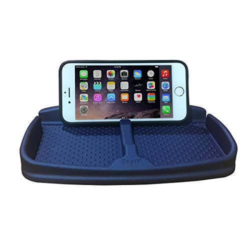 Anti-Slip Car Dash Grip Pad for Cell Phone,Keychains,Sun Glasses,Stand for Navigation Cell Phone(Metalic Blue)