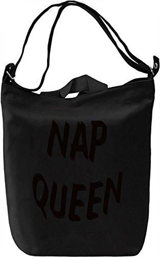 Nap Queen Borsa Giornaliera Canvas Canvas Day Bag| 100% Premium Cotton Canvas| DTG Printing|