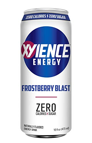 XYIENCE Energy Drink | Frostberry Blast | Sugar Free | Zero Calories | Natural Flavors | Vitamin Fortified | 16 Ounce (Pack of 12)