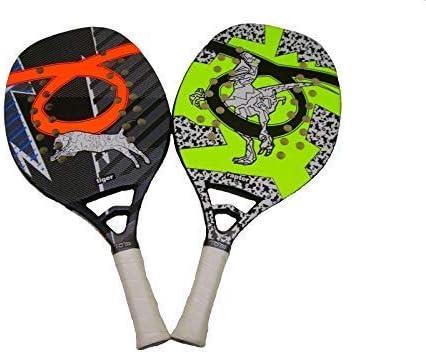 Coppia Racchette Beach Tennis Racket Tom Caruso Tiger e Raptor 2019 Idea Regalo