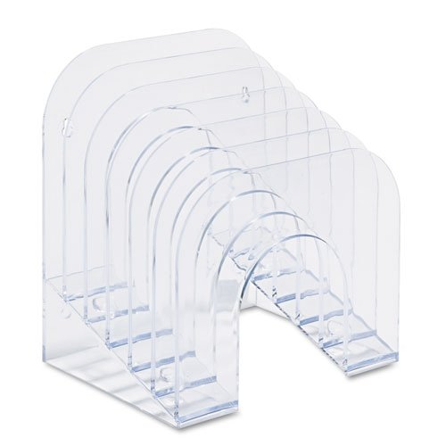 Rubbermaid Optimizers Sorter, Jumbo Incline Sorter 6-Compartments 9-3/8