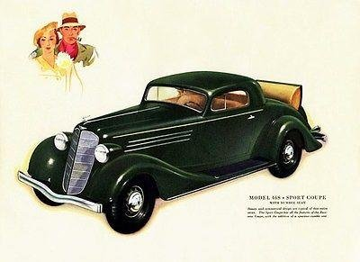 1935 Buick Model 46S Sport Coupe Promotional Advertising - Car 46s