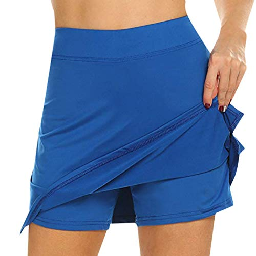 (Women's Athletic Stretch Skort Skirt with Shorts for Running Tennis Golf)