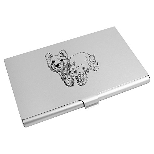 Business Wallet Azeeda Card CH00009091 Credit Card Holder 'Westie Dog' ZEvx0aqwv