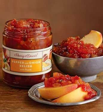 Harry & David Pepper and Onion Relish with Peach (9.5 oz Jar)