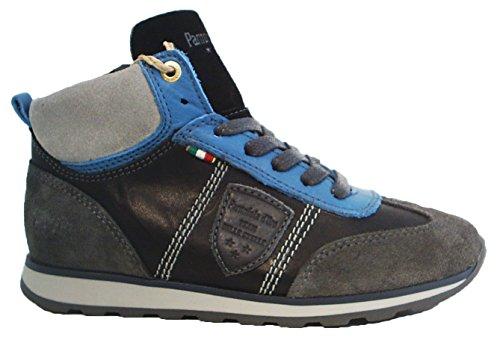 Pantofola d'Oro High top Leder Sneaker Reißverschluss schwarz grau