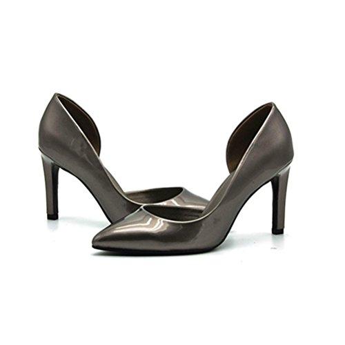 Femmes Tête Hauts Talon Chaussures Ronde XIE Profonde Fine Banquet Bouche Pointue Talons Occupation Brodés Mesdames black Peu Chaussures Unique Étanche Fine Taïwan zEwH0