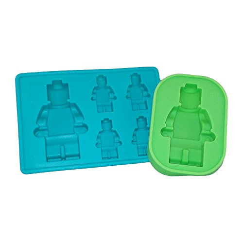 Multi Sized Lego Silicone Minifigure Gummy Candy, Cake Baking, Jello Mold & Ice Cube Trays
