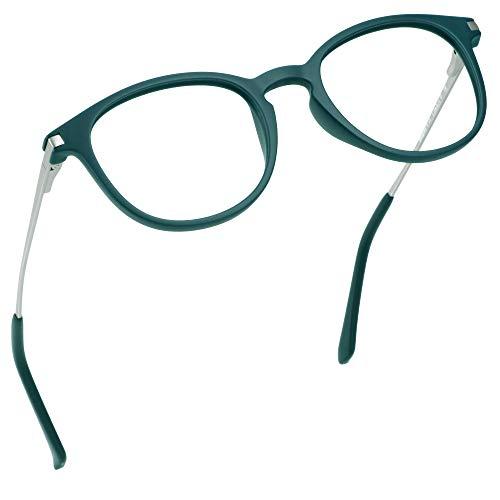 LifeArt Blue Light Blocking Glasses, Anti Eyestrain, Computer Reading Glasses with Spring Hinge, Gaming Glasses, TV Glasses for Women Men, Anti Glare (Blue, No Magnification)