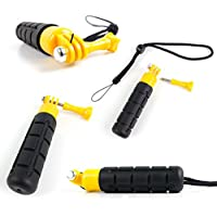 DURAGADGET Limited Edition, Waterproof Hand Grip Pole / Monopod with Wrist Strap in Black & Yellow - Compatible with the TecTecTec! Sports Action Camera | XPRO1 | XPRO2 Action Cameras