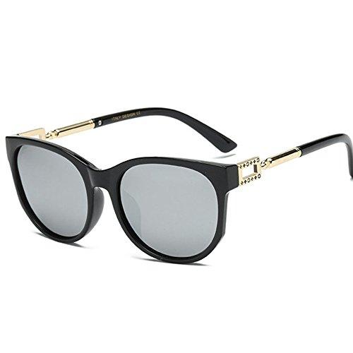 Aoligei Hommes et femmes couleur lumineuse Retro lunettes de soleil lunettes de soleil tendance D