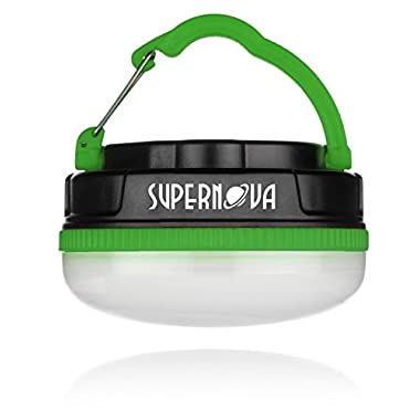 Supernova Halo 180 Extreme Rechargeable LED Camping and Emergency Lantern - The Brightest, Most Versatile, and Compact Utility Light Available - Perfect for Backpacking - Emergencies - Tents - Auto - Home - College (Forest Green)