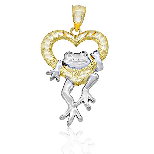 Solid Gold Frog - Charm America Gold Prince Charming Frog Charm - 14 Karat Solid Gold