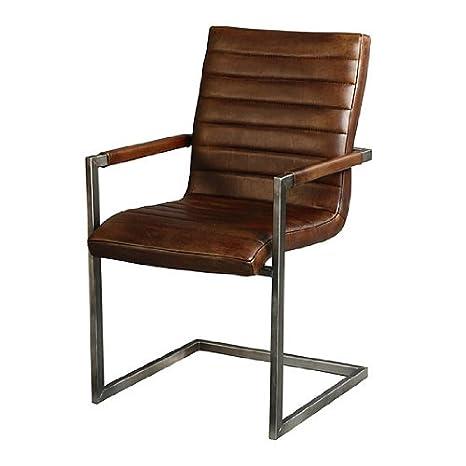 Stuhl Swan Echt Leder Lederstuhl Sessel Esszimmer