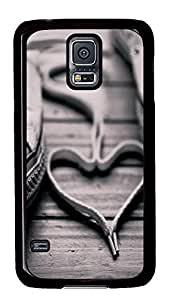 cassette Samsung Galaxy S5 cases Heart Love PC Black Custom Samsung Galaxy S5 Case Cover