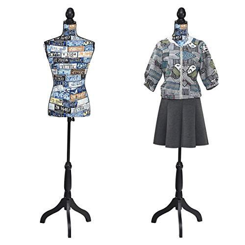 Giatex Female Dress Form Mannequin Adjustable Height 52