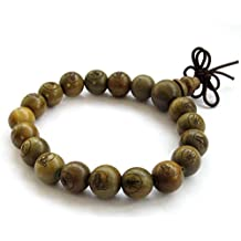 Tibetan Buddhist Green Sandalwood Beads Prayer Wrist Bracelet Mala