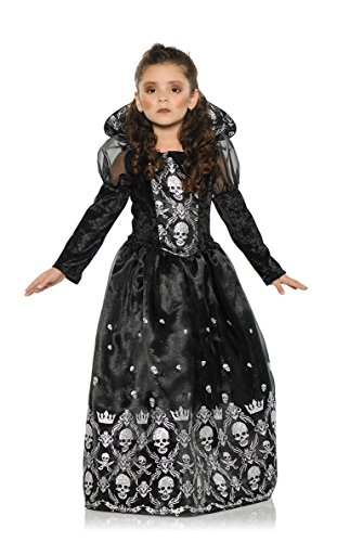 Underwraps Big Girl's Girl's Dark Princess Costume - Large Childrens Costume, Black/White, Large