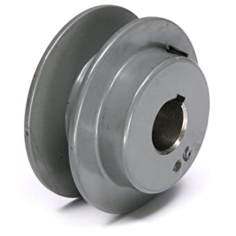 "TB Woods BK3112 FHP Bored-To-Size, 3.25"" Outside Body Diameter, 0.5"" Bore Diameter V-Belt Sheave"